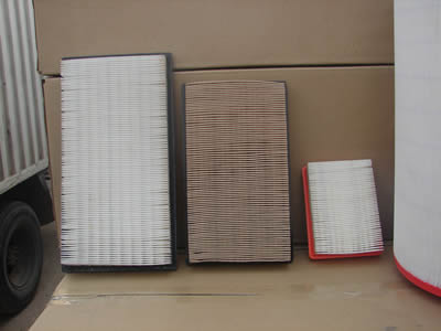 Three pieces of box shape air filter.