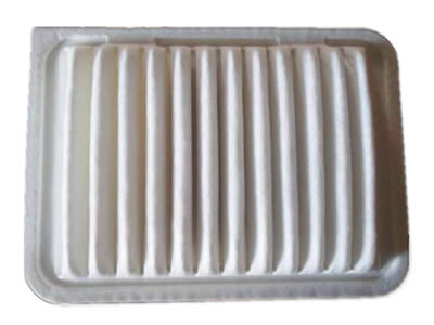 A box shape white air filter.