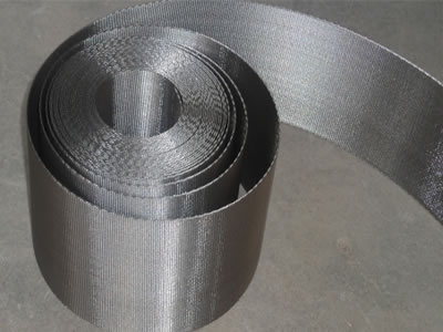 A roll of silver white filter belt.